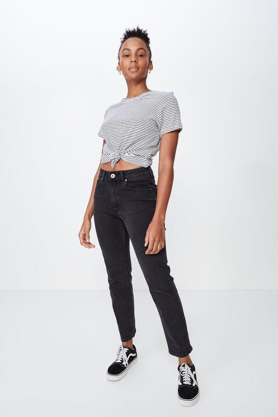 Basic T Shirt Stripe, FRANKIE STRIPE_WHITE BLACK