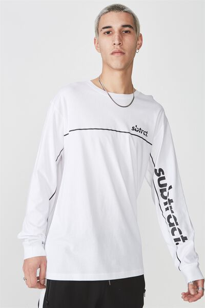 Ls Graphic T Shirt, WHITE/SUBTRACT