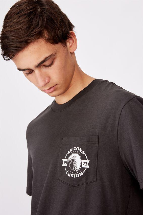 Regular Graphic Pocket T Shirt, PIRATE BLACK/ARIZONA CUSTOM