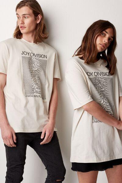 Regular License T Shirt, WASHED IVORY/JOY DIVISON