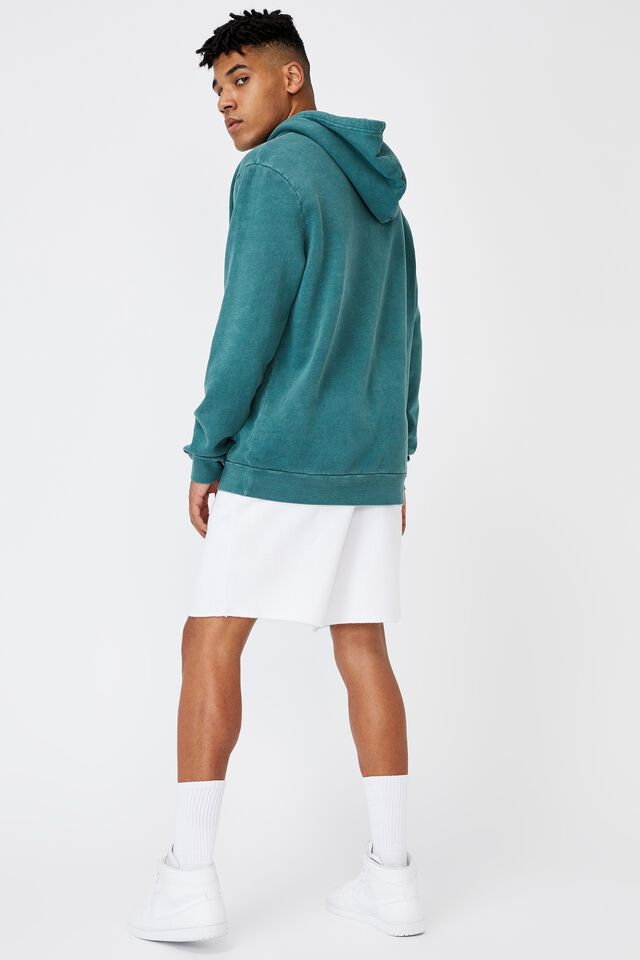 Oversized Pop Culture Hoodie, LCN COK WASHED PINE TEAL/SPRITE
