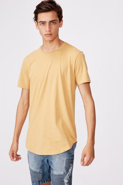 Curved T Shirt, SAFFRON