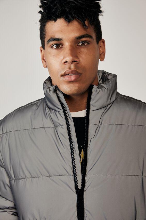 Puffer Jacket, REFLECTIVE