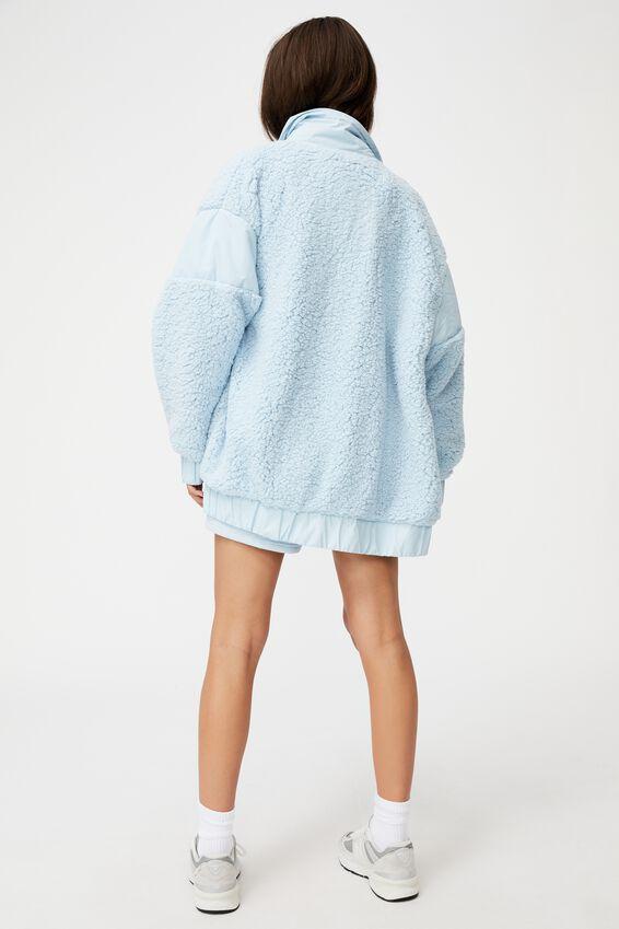 Oversized Teddy Jacket, SKYWAY BLUE