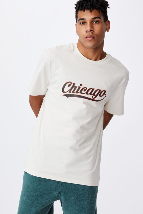 Regular Graphic T Shirt, IVORY /CHICAGO