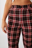 Tapered Leg Check Pant, KALI CHECK BLK RED