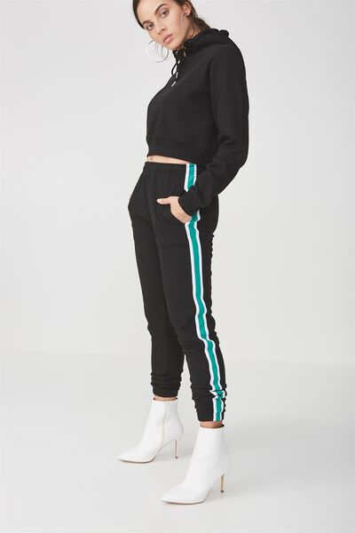 Trenton Trackpant, BLACK_EMERALD