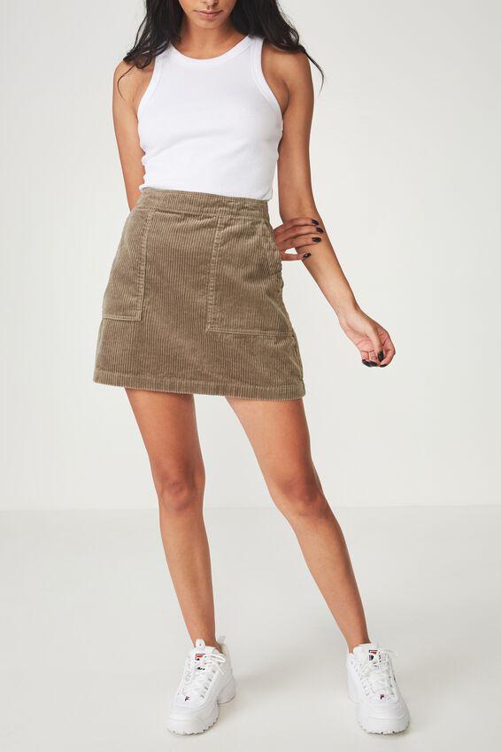 Cord Skirt, SAGE