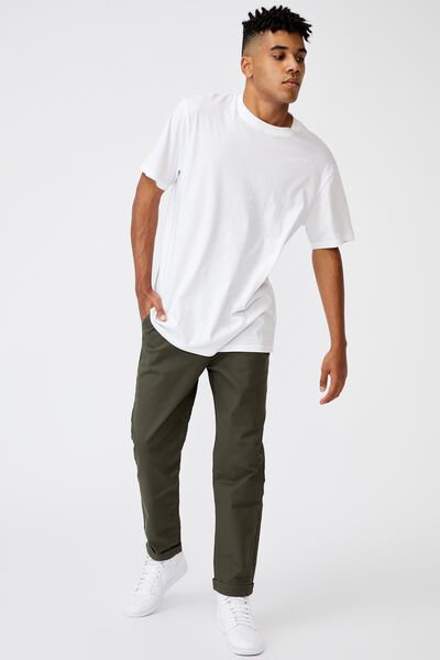Relaxed Fit Chino, KHAKI