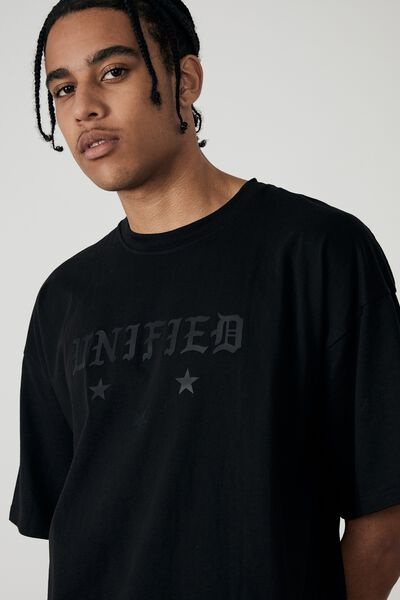 Oversized Graphic T Shirt, BLACK/BLACK/UNIFIED
