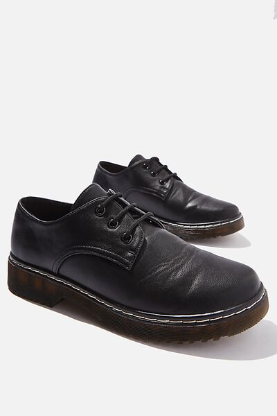 Lace Up Shoe, BLACK
