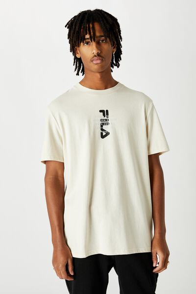 Fila Lcn Regular Graphic T Shirt., IVORY/BIELLA ITALIA