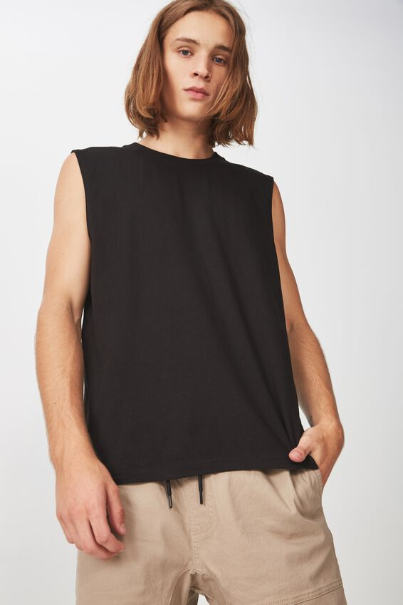 Sport Muscle T Shirt, BLACK