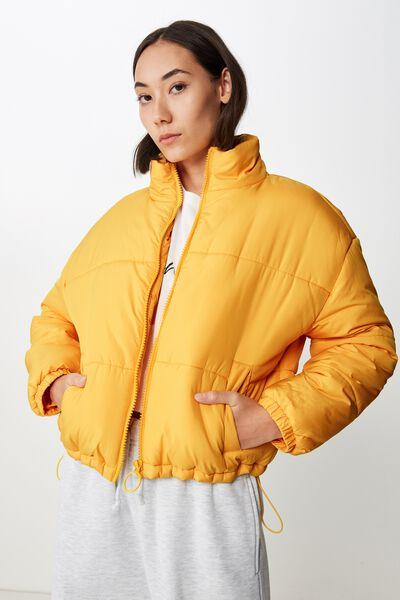 Fashion Puffer Jacket, OLD GOLD