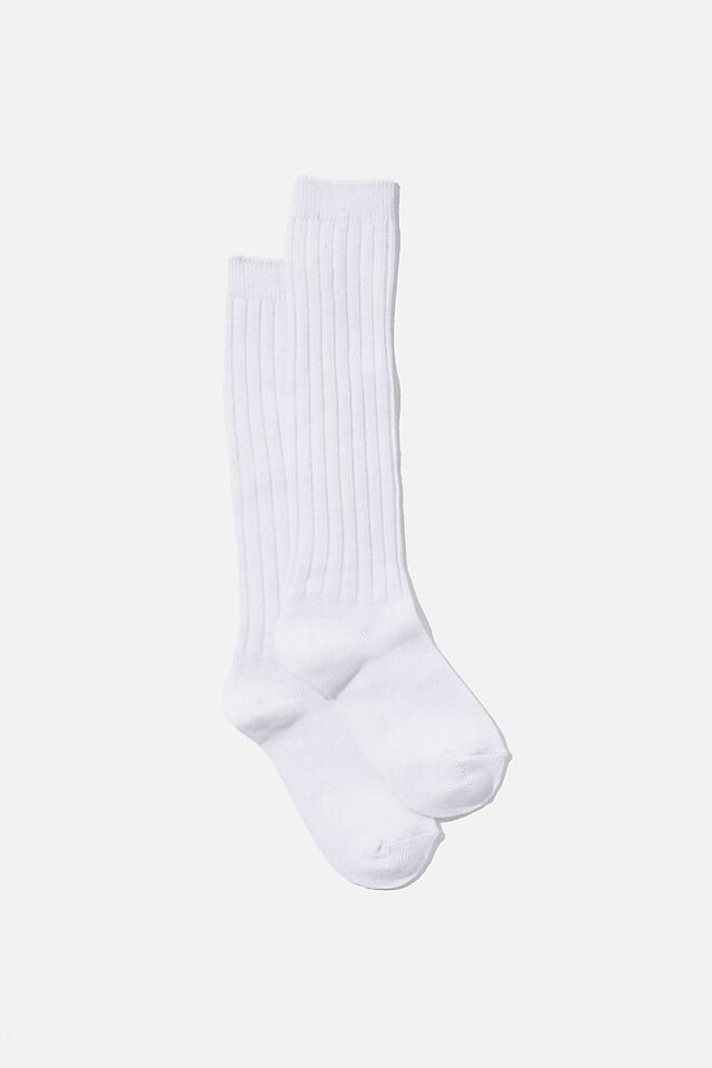 Slouchy Sock, WHITE