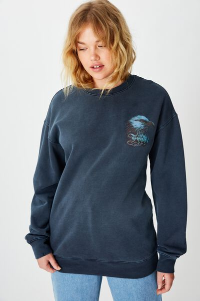 Graphic Sweater, FRENCH NAVY/EAGLE FREE