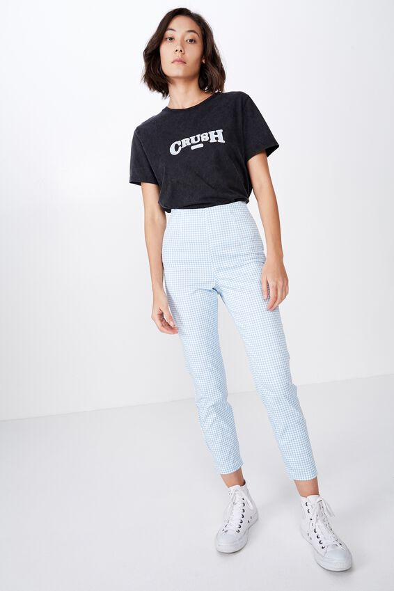 Relaxed Graphic T Shirt, WASHED BLACK/CRUSH
