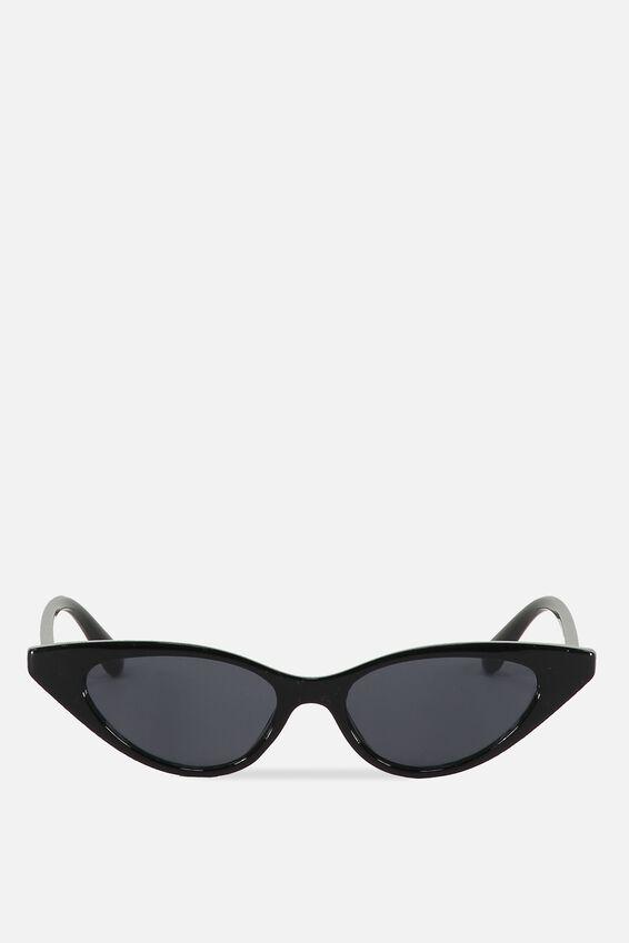 Splendour Cateye Sunglasses, S BLK_SMK