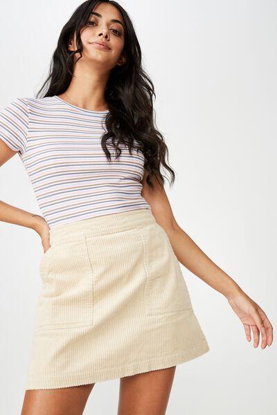 Cord Skirt, FOG