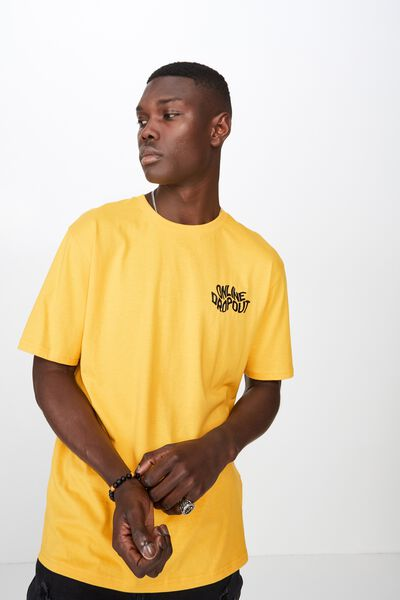 Graphic T Shirt, GOLDEN ROD/ONLINE DROPOUT
