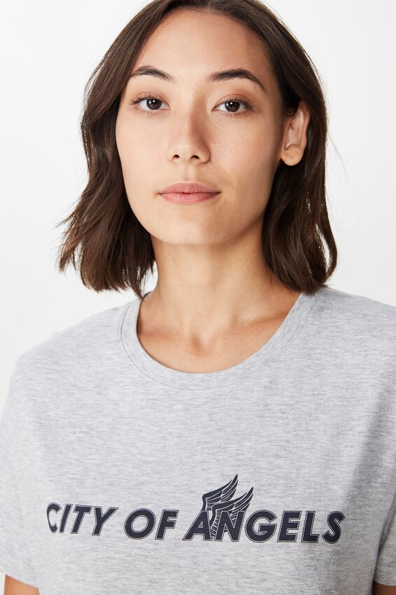 Relaxed Graphic T Shirt, GREY MARLE/CITY OF ANGELS