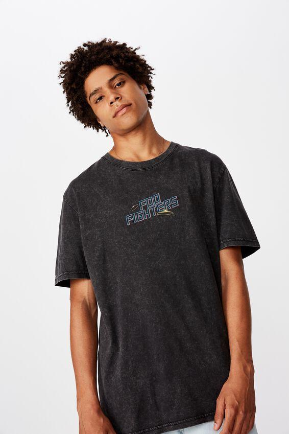 Regular License T Shirt, WASHED BLACK/FOO FIGHTERS