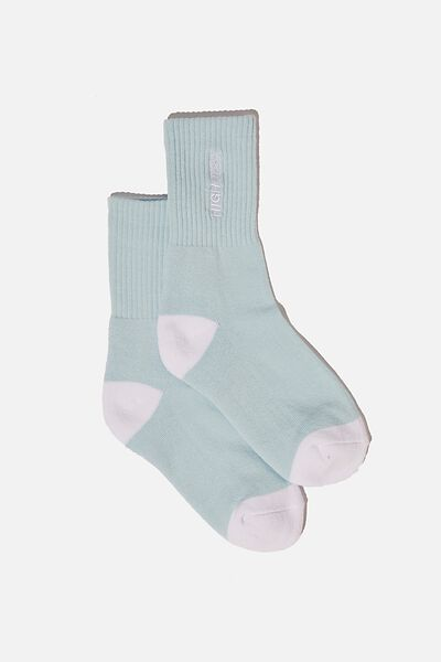 Retro Sport Sock, SKYWAY BLUE/HIGH RISK