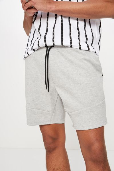 Tech Short, LIGHT GREY MARLE