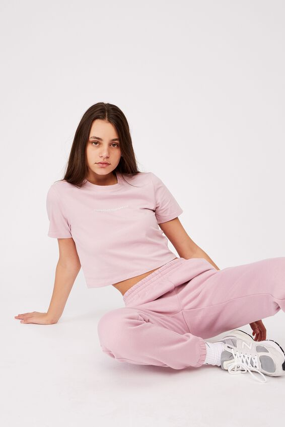 Fitted Graphic T Shirt, DAWN PINK/OBSESSED