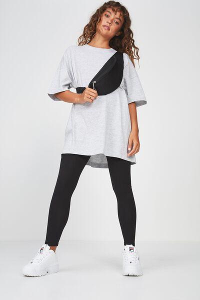 Basic Legging, BLACK