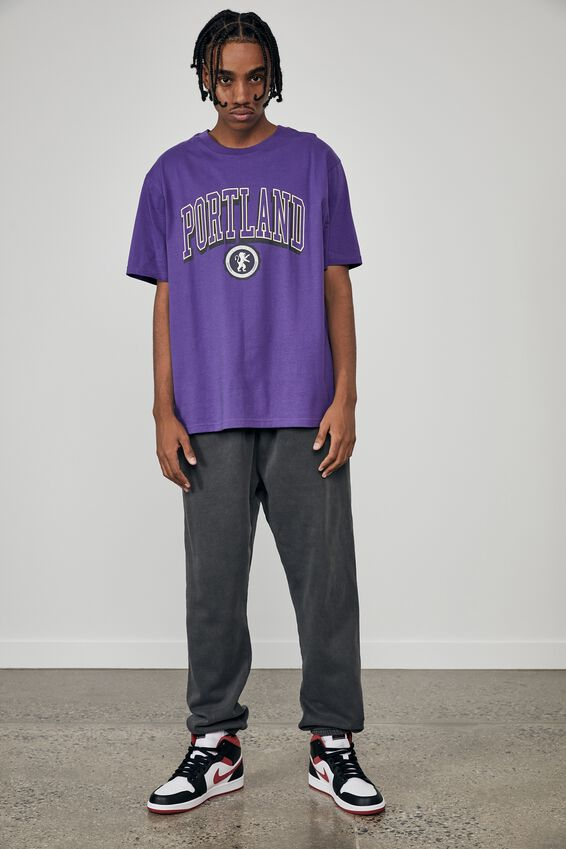 Regular Graphic T Shirt, PURPLE/PORTLAND
