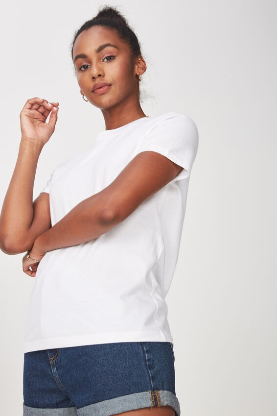 Basic T Shirt Plain, WHITE