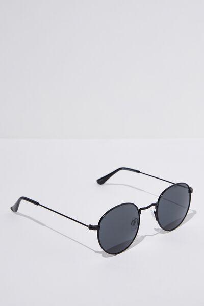 Splendour Round Sunglasses, M.BLACK_SMK