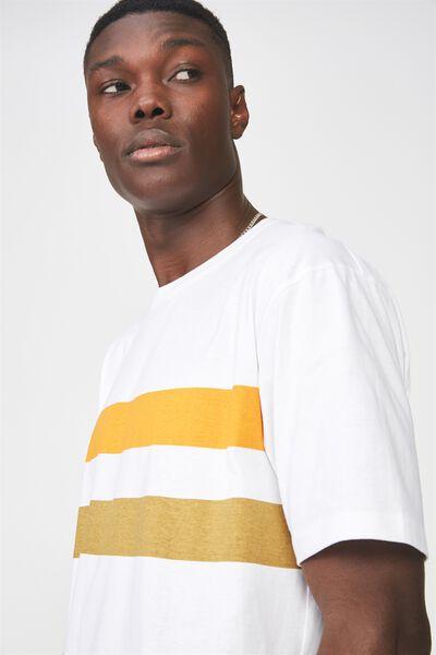 Graphic T Shirt, WHITE/PHOENIX STRIPE