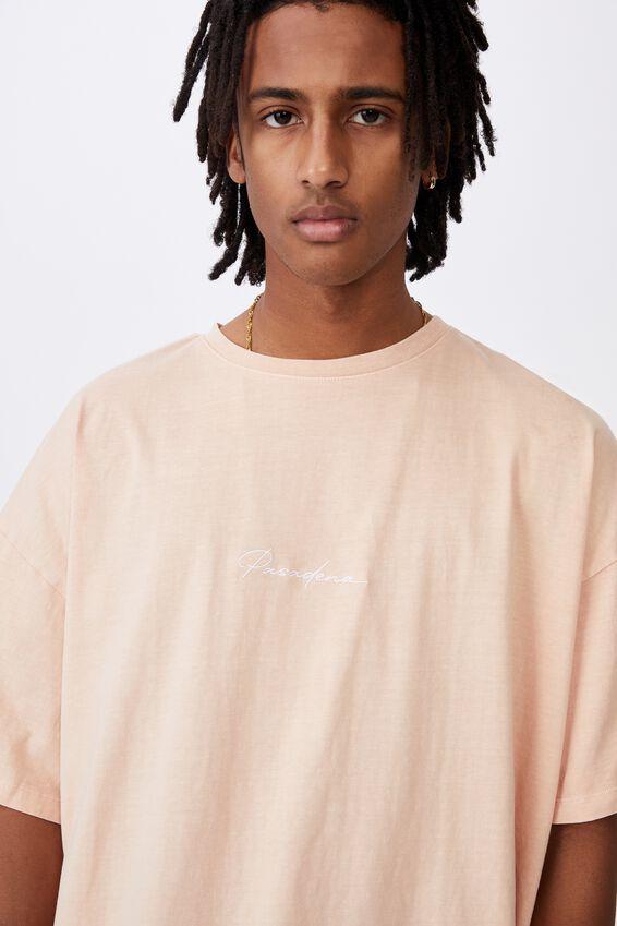 Graphic T Shirt Dress, RUGBY TAN/PASADENA
