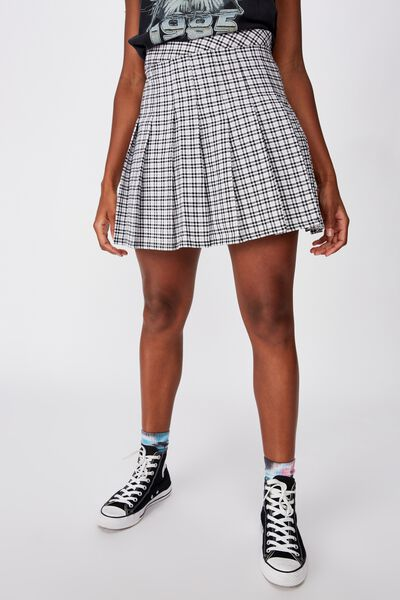 Pleated Skirt, COLLINS GREY CHECK