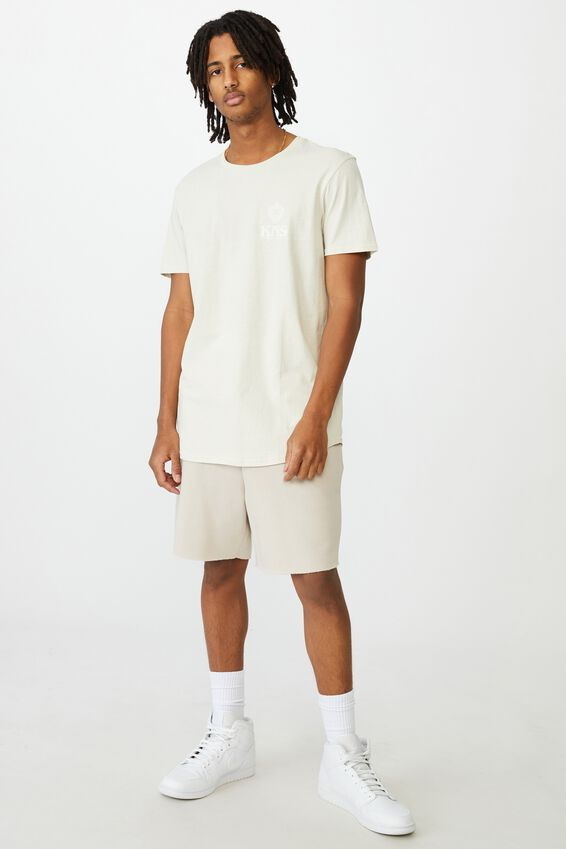 Curved Graphic T Shirt, IVORY/KNS