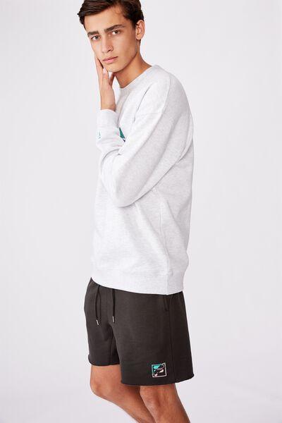 Fila Lcn Fleece Short, PIRATE BLACK/CUT BACK