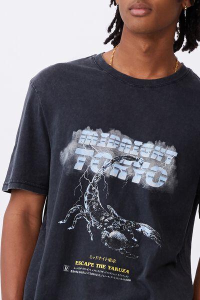 Regular Graphic T Shirt, WASHED BLACK/MIDNIGHT TOKYO