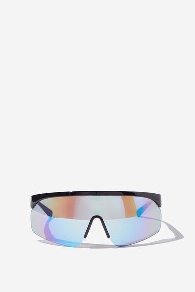 Ski Resort Sunglasses, BLACK BLUE MULTI