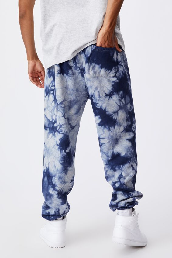 Relaxed Tie Dye Trackpant, NAVY BLUE TIE DYE