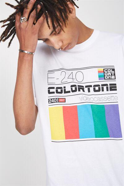 Graphic T Shirt, WHITE/COLOURTONE