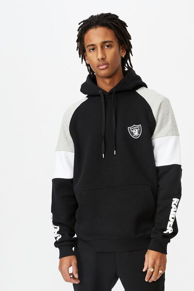 License Panelled Hoodie, BLACK/RAIDERS