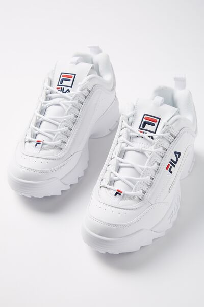 Girls Fila Disruptor 2 Ii, WHITE
