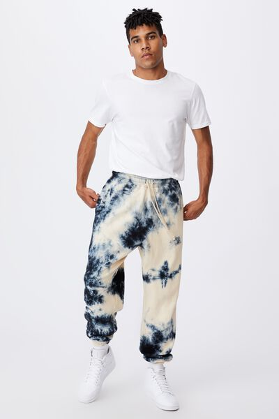 Relaxed Tie Dye Trackpant, BLEACHED INFERNO TIE DYE
