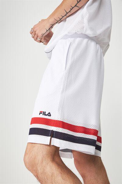 Fila Lcn Baseball Mesh Short, WHITE
