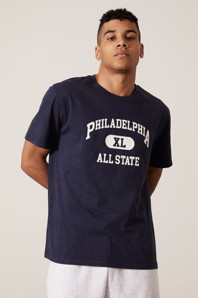 Regular Graphic T Shirt, WASHED NAVY/PHILLY ALL STATE