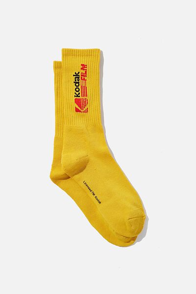 License Retro Rib Socks, LCN KODAK LOGO