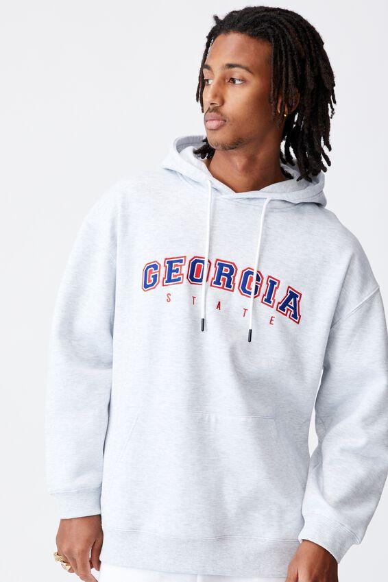 Elite Hoodie, SILVER MARLE/GEORGIA STATE