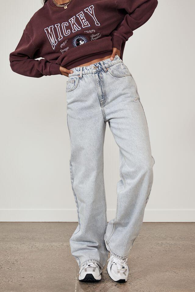 90 S Straight Leg Jean, ARTIC BLUE